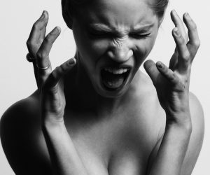woman screaming with stress management problem